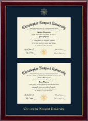 Christopher Newport University Diploma Frame - Double Diploma Frame in Gallery