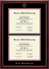 Gardner-Webb University Diploma Frame - Double Diploma Frame in Gallery