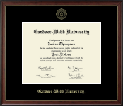 Gardner-Webb University Diploma Frame - Gold Embossed Diploma Frame in Studio Gold