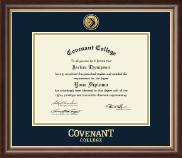 Covenant College Diploma Frame - Gold Engraved Medallion Diploma Frame in Hampshire