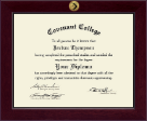 Covenant College Diploma Frame - Century Gold Engraved Diploma Frame in Cordova