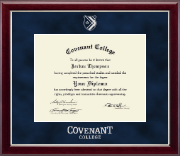 Covenant College Diploma Frame - Silver Embossed Diploma Frame in Gallery Silver