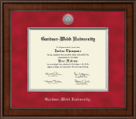 Gardner-Webb University Diploma Frame - Presidential Silver Engraved Diploma Frame in Madison