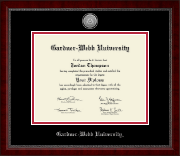 Gardner-Webb University Diploma Frame - Silver Engraved Medallion Diploma Frame in Sutton