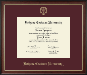 Bethune-Cookman University Diploma Frame - Gold Embossed Diploma Frame in Studio Gold