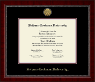 Bethune-Cookman University Diploma Frame - Gold Engraved Medallion Diploma Frame in Sutton