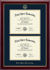 Utah State University Diploma Frame - Double Diploma Frame in Gallery
