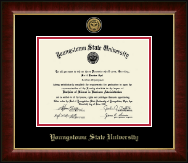 Youngstown State University Diploma Frame - Gold Engraved Medallion Diploma Frame in Murano