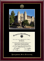 Youngstown State University Diploma Frame - Campus Scene Edition Diploma Frame in Gallery