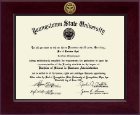 Youngstown State University Diploma Frame - Century Gold Engraved Diploma Frame in Cordova