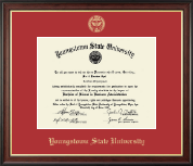 Youngstown State University Diploma Frame - Gold Embossed Diploma Frame in Studio Gold
