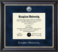 Creighton University Diploma Frame - Regal Edition Diploma Frame in Noir
