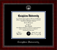 Creighton University Diploma Frame - Silver Embossed Diploma Frame in Sutton