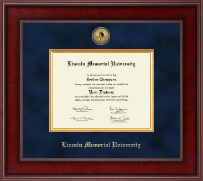 Lincoln Memorial University Diploma Frame - Presidential Gold Engraved Diploma Frame in Jefferson