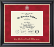 The University of Oklahoma Diploma Frame - Regal Edition Diploma Frame in Noir