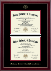 Indiana University of Pennsylvania Diploma Frame - Double Diploma Frame in Gallery