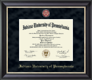 Indiana University of Pennsylvania Diploma Frame - Regal Edition Diploma Frame in Noir