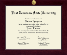 East Tennessee  State University Diploma Frame - Century Gold Engraved Diploma Frame in Cordova