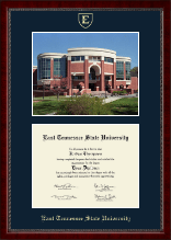East Tennessee  State University Diploma Frame - Campus Scene Diploma Frame in Sutton