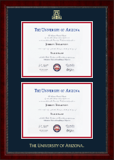 The University of Arizona Diploma Frame - Double Diploma Frame in Sutton