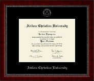 Abilene Christian University Diploma Frame - Silver Embossed Diploma Frame in Sutton