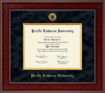 Pacific Lutheran University Diploma Frame - Presidential Gold Engraved Diploma Frame in Jefferson