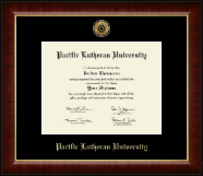 Pacific Lutheran University Diploma Frame - Gold Engraved Medallion Diploma Frame in Murano