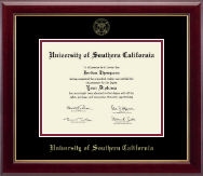 University of Southern California Diploma Frame - Gold Embossed Diploma Frame in Gallery