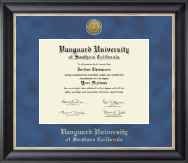 Vanguard University of Southern California Diploma Frame - Gold Engraved Medallion Diploma Frame in Noir