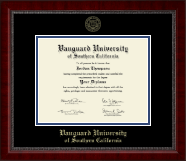 Vanguard University of Southern California Diploma Frame - Gold Embossed Diploma Frame in Sutton