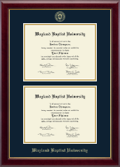 Wayland Baptist University Diploma Frame - Double Diploma Frame in Gallery