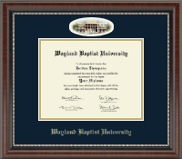 Wayland Baptist University Diploma Frame - Campus Cameo Diploma Frame in Chateau