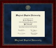 Wayland Baptist University Diploma Frame - Gold Embossed Diploma Frame in Sutton