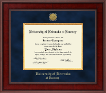 University of Nebraska Kearney Diploma Frame - Presidential Gold Engraved Diploma Frame in Jefferson