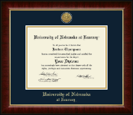 University of Nebraska Kearney Diploma Frame - Gold Engraved Medallion Diploma Frame in Murano
