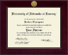 University of Nebraska Kearney Diploma Frame - Century Gold Engraved Diploma Frame in Cordova
