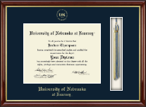University of Nebraska Kearney Diploma Frame - Tassel Edition Diploma Frame in Southport Gold