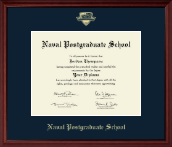 United States Navy Certificate Frame - Gold Embossed Certificate Frame in Camby