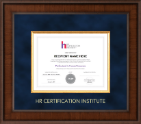 Human Resource Certification Institute Certificate Frame - Presidential Edition Certificate Frame in Madison