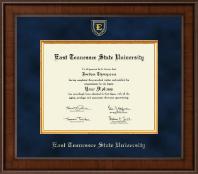 East Tennessee  State University Diploma Frame - Presidential Masterpiece Diploma Frame in Madison