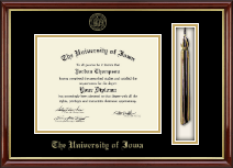 The University of Iowa Diploma Frame - Tassel Edition Diploma Frame in Southport Gold