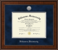 Villanova University Diploma Frame - Presidential Silver Engraved Diploma Frame in Madison