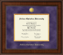 Abilene Christian University Diploma Frame - Presidential 23K Medallion Diploma Frame in Madison