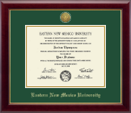 Eastern New Mexico University Diploma Frame - Gold Engraved Medallion Diploma Frame in Gallery