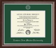 Eastern New Mexico University Diploma Frame - Silver Embossed Diploma Frame in Devonshire
