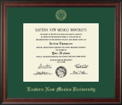Eastern New Mexico University Diploma Frame - Gold Embossed Diploma Frame in Studio