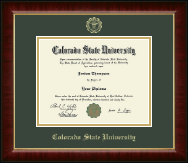 Colorado State University Diploma Frame - Gold Embossed Diploma Frame in Murano