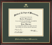 Medical College of Wisconsin Diploma Frame - Gold Embossed Diploma Frame in Studio Gold