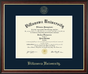 Villanova University Diploma Frame - Gold Embossed Diploma Frame in Studio Gold