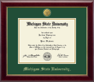 Michigan State University Diploma Frame - 23K Medallion Diploma Frame in Gallery